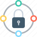locked, network security, padlock, private network icon