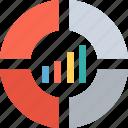 bar chart, diagram, graph, seo graph icon