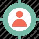 customer target, focus, marketing, seo icon