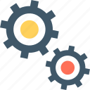 cog, cogwheel, gear, gear wheel icon