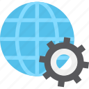 browser, cog, globe, internet icon