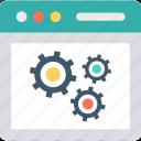 cogwheel, preferences, settings, web development icon