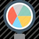 graph report, pie chart, pie graph, seo graph icon