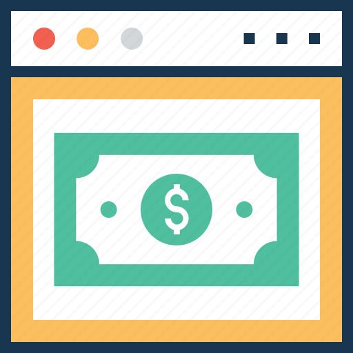 dollar, e banking, e commerce, online banking, online earning icon
