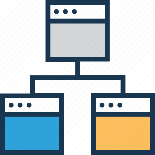 hierarchy, organization, share, sitemap, structure icon
