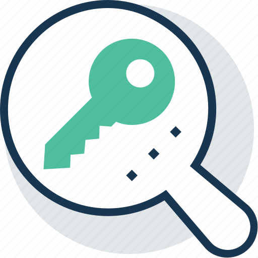 find keyword, keyword search, magnifying, search, seo tags icon