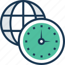 globe, time, time management, timezone, worldwide icon