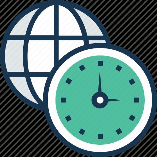 globe, time, time management, timezone, worldwide icon