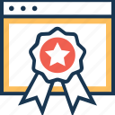 award, badge, premium, quality, web award icon