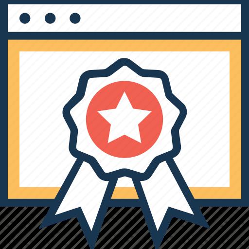 award, badge, premium, quality, web award icon