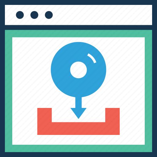 arrow, data, download, inbox, web icon
