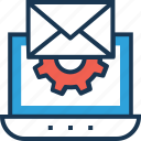 cogwheel, email, email settings, settings, web icon