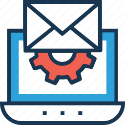 cogwheel, email, email settings, settings, web icon