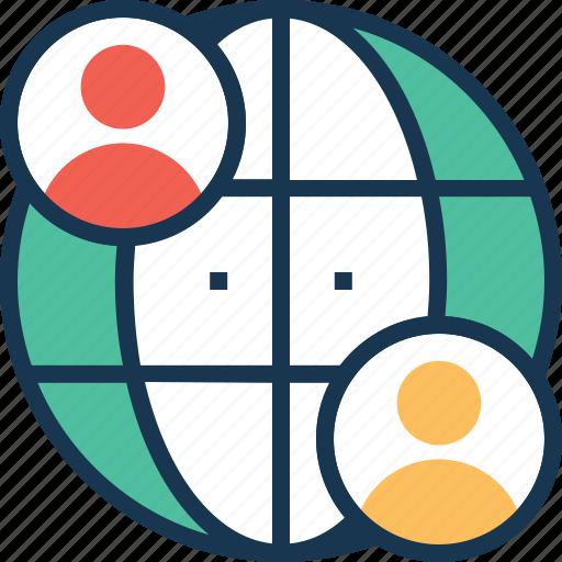 global, global marketing, globe, traffic, users icon