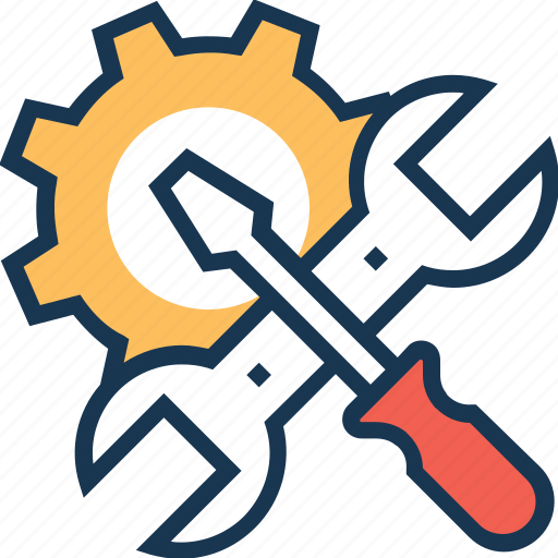 screwdriver, settings, spanner, technical tools, tools icon