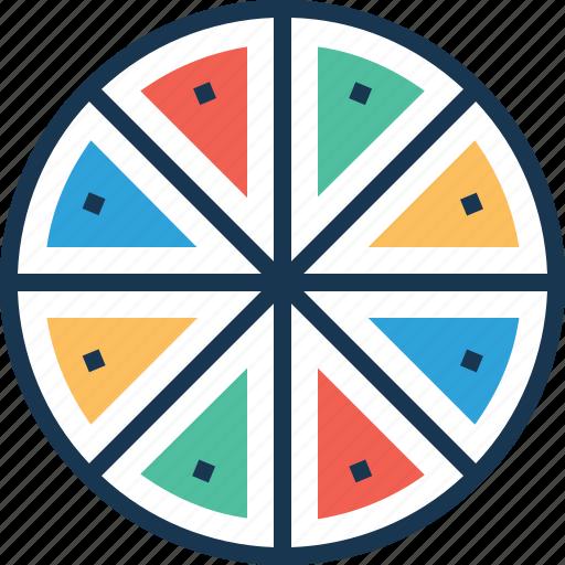 color chart, data, data visualization, pie graph, storage icon