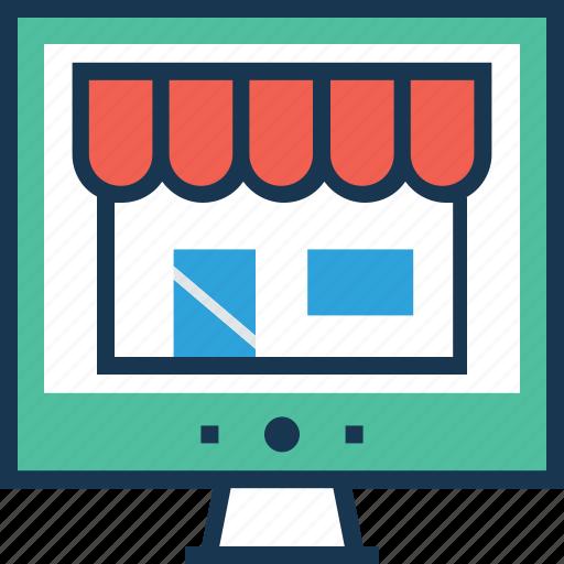 ecommerce, online shop, shopping, store, web icon