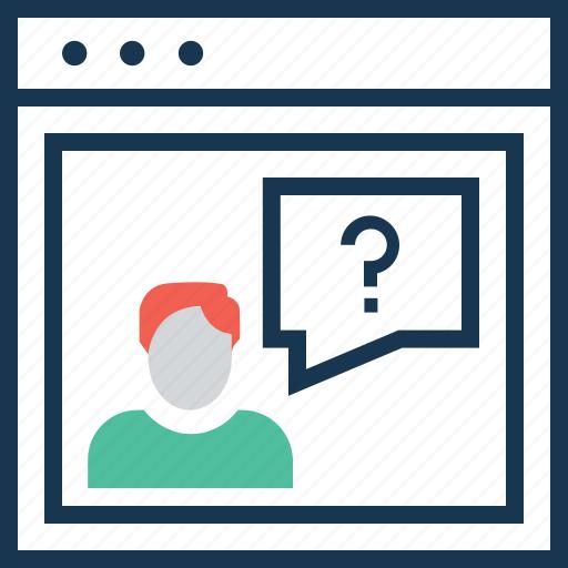 demand, faq, question, requirement, web icon