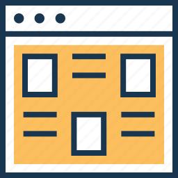 design, layout, ui design, ui development, web icon