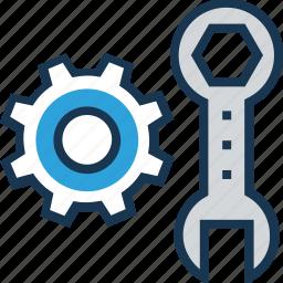 cogwheel, preferences, screwdriver, service, tools icon