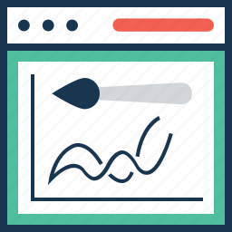 content, dashboard, design, painting, web design icon