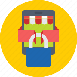 eshop, lock, mobile, mobile shop, shopping icon
