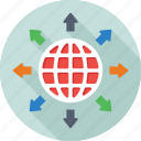 global, global network, globe, map, planet icon