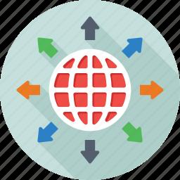 global, global network, globe, map, planet icon
