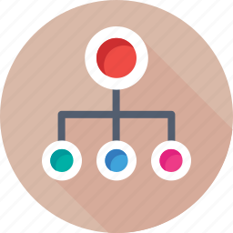 hierarchy, network, seo, sitemap, workflow icon