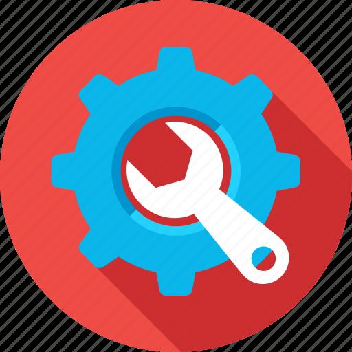 cog, gear, optimization, settings, spanner icon