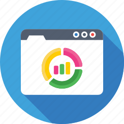 adwords, graph, performance, web analytics, webpage icon