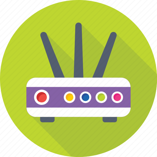 broadband, dsl, internet, modem, router icon