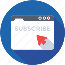 cursor, newsletter, subscribe, web, website icon