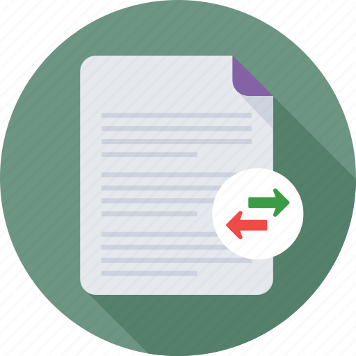 documents, exchange, file share, file transfer, files icon
