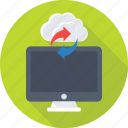 cloud computing, cloud drive, cloud sync, icloud, monitor icon