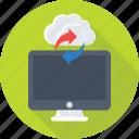 cloud computing, cloud drive, cloud sync, icloud, monitor