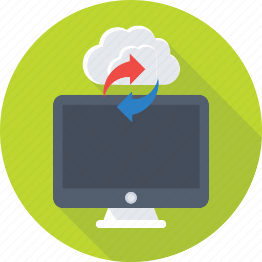cloud computing, cloud drive, cloud sync, icloud, monitor icon
