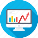 analytics, monitor, online graph, statistics, trending icon