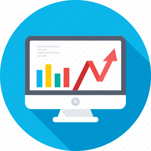 analytics, monitor, online graph, statistics, trending icon