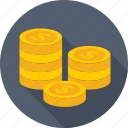 coin, dollar, finance, money, usd icon