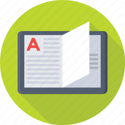 article, blog, book, content, open book icon