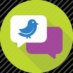 chat bubble, social media, social network, tweet, twitter icon