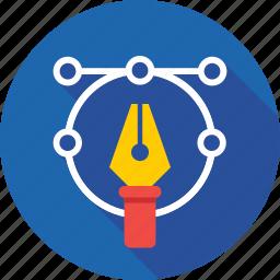 artwork, design tool, illustrator, pen tool, photoshop icon