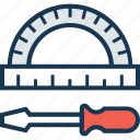 drawing, screwdriver, service, support, technical support icon