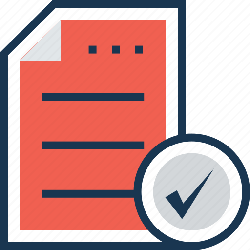approved, documents, file, order, project icon