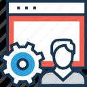 admin, admin panel, traffic, user, web icon