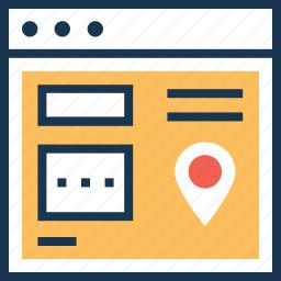 local seo, location, map pin, seo, webpage icon