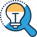 bulb, discover, idea, innovation, search icon
