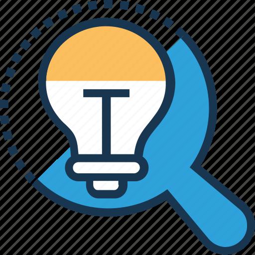bulb, discover, idea, innovation, search icon
