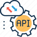 interface, cogwheel, program, api interface, api